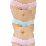 Buy 3Pcs Fashion Cotton Low Waist Maternity Knickers Underwear Pregnant S*xy Panties Pink Blue Lavender Multipack Plus Size Intl Oem Online