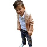 Coupon 3Pcs Kids Baby Boy Gentleman Coat Shirt Jeans Pants Trousers Clothes Outfits Set Intl