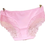Cheap 4 Pc Women S Panties Seamless Lace Breathable Ice Silk Underwear Pink Online
