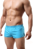 4 Piece Set Men S Underwear Cotton Shorts Boxers Shorts Underpants Light Blue Cheap