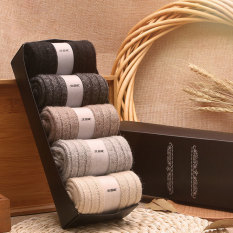 5 Pairs Autumn And Winter Men Warm Thick Wool Socks Intl Best Buy