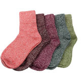 Promo 5 Pairs Women Wool Cashmere Thick Warm Soft Solid Casual Sports Socks Winter Intl