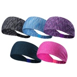 5 Pcs Assorted Colors Unisex Men Women Elastic Moisture Wicking Headband Sweatbands Sports Workout Sweat Band For Yoga Cycling Running Fitness Exercise Intl Cheap