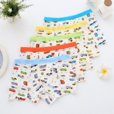 5 Packaged In The Shape Of Bars Modal Children Boxer Underwear Cute Cartoon Little Boy Shorts Pure Cotton Schick Boxer Knicker Head By Taobao Collection.