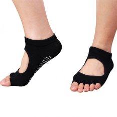 5 Toes Women Men Yoga Gym Non-Slip Anke Socks Rubber Sole Dance Sports Socks Black By Yidea Hongkong.