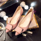 Price Comparison For Women S Korean Style Tip Toe High Heel Shoes Pink Pink