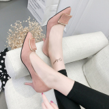 5Cm Spring Pointed High Heel Pumps Pink Coupon Code