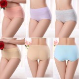 5Pcs Pack Women Brief Panties Underwears Cotton Stretch Maxi Ladies Female Woman Underwear Briefs Plus Size Intl Online