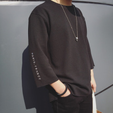 Naughtytribe Men S Korean Style Loose T Shirt Black Sleeve Black Sleeve Oem Cheap On China