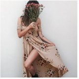 Price European And American Hot Selling Wrap Around Printed Dress White White Online China