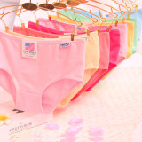 Buy A Pack Of 10 Pc Women Lady Pure Cotton Comfortable Breathe Freely Panties One Size Mixed Colors Oem