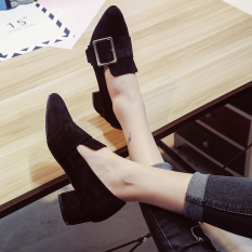 Women S Slip On Middle High Heels Black Best Price