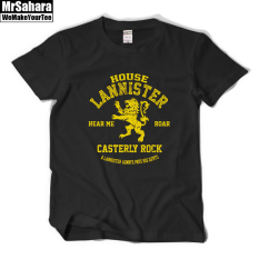 Lannister Lion Short Sleeved T Shirt Black Black Compare Prices