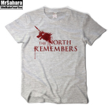 A Song Of Ice And Fire Right Game The North Remembers Stark Short Sleeve T Shirt Men Heather Gray Color China
