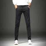 A02 Fashion Men Cotton Slim Straight Pants Elasticity Casual Pants 702 Black Intl Promo Code
