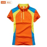 Coupon A04 Hot Selling Women Short Sleeve Couples T Shirt Outdoor Sport T Shirt 1708 Orange Intl