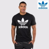 Adidas Men Originals Trefoil Tee Aj8830 Black 100 Original Intl South Korea