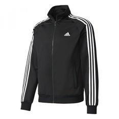 Buy Adidas Mens Essentials 3 Stripe Tricot Track Jacket Black White Intl