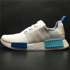 Adidas NMD R1 Runner Womens and Men Running Shoes S75235 (White Blue) - intl a372bbde0