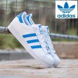 Cheapest Adidas Originals Superstar Running Shoes S75929 White Blue Online