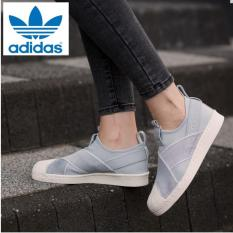 3a12b26e009a Adidas Originals Superstar Slip-on Shoes S76409 (Grey White) 100% Original