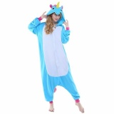 Discount *D*Lt New Purple Blue Pink Unicorn Onesie Pajamas Kigurumi Cosplay Costumes Animal Outfit Intl Oem On China