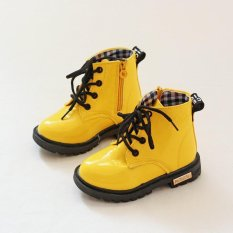 Get Cheap Ai Home Baby Martin Boots Lace Up Boots Kids Children S Casual Sports Shoes Yellow Intl