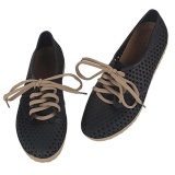 Buy Ai Home Women Lace Up Hollowed Out Flat Shoes Anti Skid Beach Shoes Jelly Sandals Black Intl Online China