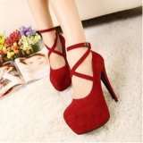 Buy Ai Home Women Thick High Heels Strap Sandals Fish Mouth Night Club Sandals Shoes Red Intl