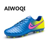 Aiwoqi Men S Women S Indoor Outdoor Soccer Football Shoes Best Turf Ground Cleats Soccer Shoes Sport Flexible Athletic Free Running Light Weight Lace Up Shoes Intl Price Comparison