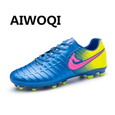 Aiwoqi Men S Women S Indoor Outdoor Soccer Football Shoes Best Turf Ground Cleats Soccer Shoes Sport Flexible Athletic Free Running Light Weight Lace Up Shoes Intl Best Buy
