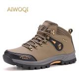 Cheap Aiwoqi Men S High Waterproof Non Slip Hiking Shoe Outdoor Climbing Shoes Hiking Boot Intl Online