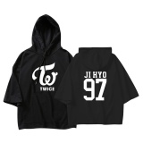 Brand New Alipop Kpop Korean Fashion Twice Twiceland Ji Hyo 3 4 Sleeve Cotton Thin Three Quarter Hoodies Pullovers Hoode Sweatshirts Pt604 Jihyo Black Intl