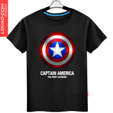 Alliance Men Short Sleeve Cotton Pants T Shirt Black T Shirt American Captain Black T Shirt American Captain Lowest Price