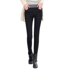 Amart Fashion Spring Fall Women Jean Trouser Elastic High Waist Denim Pants Slim Casual Pencil Plus Size(black) - Intl By Amart.
