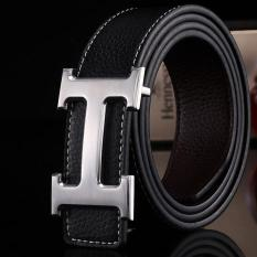 Amart Genuine Pu Leather H Smooth Buckle Belt For Men(black) - Intl By Amart.