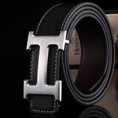 Amart Genuine Pu Leather H Smooth Buckle Belt For Men(black) - Intl By Amart.