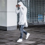 Discount Amart Korean Fashion Streetwear Men Long Sleeve Hoodies Sweatshirt Side Zip Hip Hop Pullover Tops White Intl China