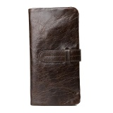 Discount Amart Korean Men Genuine Cowhide Leather Wallet Purse With Card Holder Vintage Long Wallets Clutch Handbag Coffee Intl