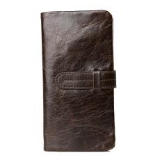 Price Amart Korean Men Genuine Cowhide Leather Wallet Purse With Card Holder Vintage Long Wallets Clutch Handbag Coffee Intl Amart Original