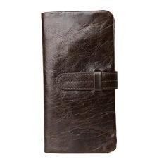 Price Amart Korean Men Genuine Cowhide Leather Wallet Purse With Card Holder Vintage Long Wallets Clutch Handbag Coffee Intl Amart Online
