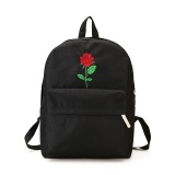 Price Comparison For Amart Korean Men Women Oxford Cloth Backpack Cute Rose Embroidery Rucksack Sch**l Bags Intl