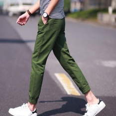 Who Sells The Cheapest Amart Korean Simple Fashion Men Pants Slim Straight Casual Trousers Green Intl Online