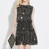 Best Offer Amart Women Vintage Dress Slim Elegant Sleeveless Dresses Black Intl