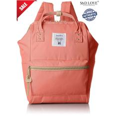 Anello Original Japan Best Selling Unisex Casual Backpack Mini Coral Pink With Backzip Shop