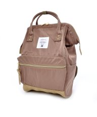 Sale Anello Original Japan Best Selling Unisex Casual Backpack New 2016 Nylon Graybeige With Backzip Mini Size Anello Wholesaler