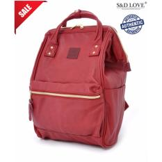 Sales Price Anello Original Japan Large Capacity Unisex Casual Backpack Faux Leather Wine With Backzip Large Size