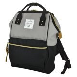 Brand New Anello Original Japan Large Capacity Unisex Casual Backpack L Grey Black With Backzip