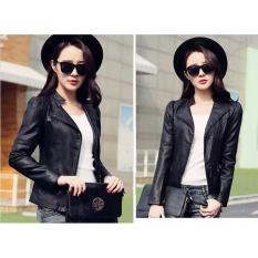 Angelcitymall Fashion Pu Leather Jackets Women Motorcycle Jackest - Intl By Angelcitymall.