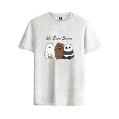Discounted Animated Sitcom We Bare Bears Cotton T Shirt Tee Shirt T Shirt Short Sleeve Sleeve Men Women Funny Tee The Three Bare Bears Grey Intl